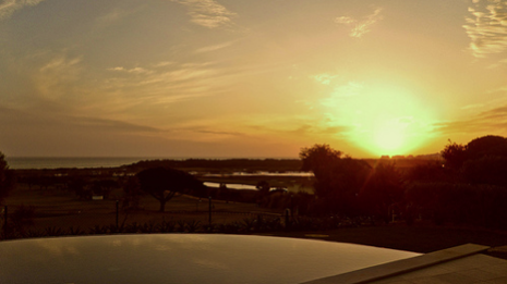 Sunset over the Vale do lobo golf course