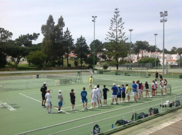 A tennis competition in Vale do Lobo