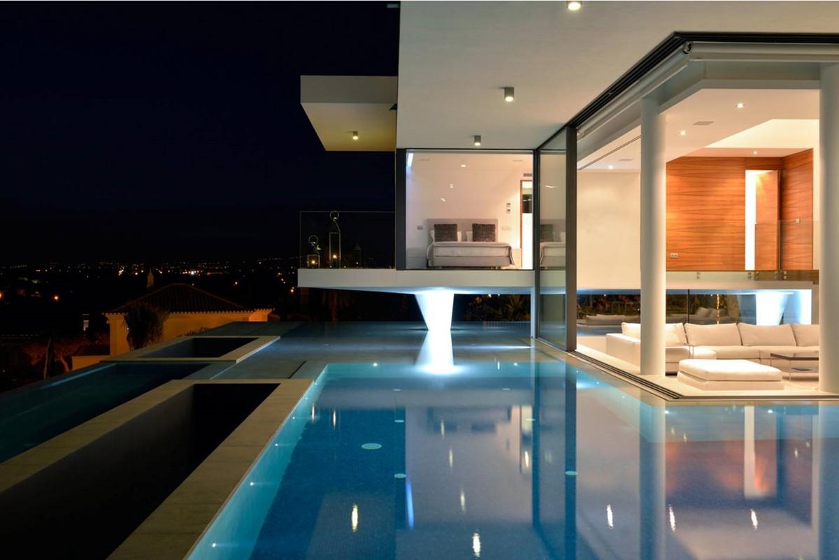 6 Bedroom Luxury Villa Vale Do Lobo Pool By Night 2